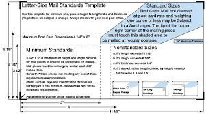 Standard Postal Specs Post Office Requirements Western