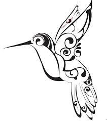 tribal hummingbird tattoo drawing. Exellent Hummingbird Tribal Hummingbird Tattoo Stencil Inside Drawing I