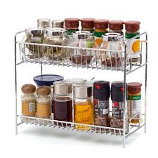 Kitchen Cabinet Racks Storage 2 Tier Spice Rack Ezoware Kitchen Countertop 2 Tier Storage