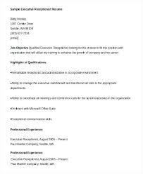 Dental Receptionist Resume Objective Example Receptionist Resume Reception Resume Samples Ideas Of 79
