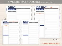 6 Month Daily Planner Pages By Purpletrail