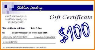 Gift Certificate Wording 6 Gift Voucher Wording Sample Of Invoice For Gift Certificate