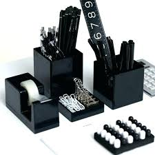 ergonomic cool desk toys picture black and white set striped office accessories pen cup magnetic toy