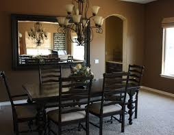 country dining room lighting. French Country Dining Room Lighting With Extra Large Wall Mirror Using Black Color Schemes