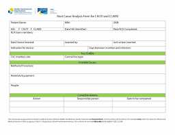 40 Effective Root Cause Analysis Templates Forms Examples