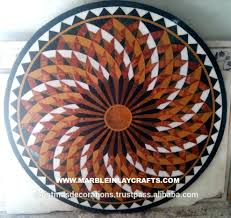 mosaic table top round patterns tile kits outdoor designs