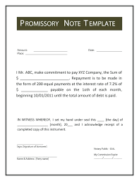 Promissory Note Template Microsoft Word Template Ideas