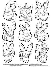 Small Picture Pokemon Eevee Evolutions Coloring Pages FunyColoring