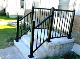 outside handrails for steps exterior sleek front step railings home design ideas metal stairs indoors wooden