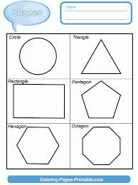 Kindergarten Two Dimensional Shapes Worksheets Kindergarten Shapes ...