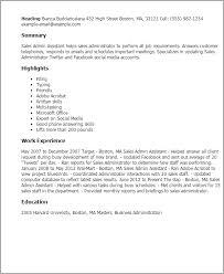 Sales Admin Assistant Resume Template Best Design Tips