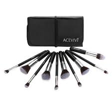 amazon acevivi makeup brushes 10 piece premium makeup brush kit handle synthetic kabuki foundation cosmetic brushes professional makeup brushes set