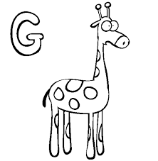 Giraffe Coloring Pages Alphabet G | Alphabet Coloring pages of ...