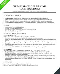 Store Manager Resume Examples Resume Template Easy Http Www