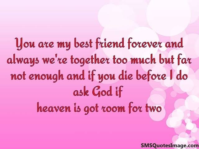 best friends forever poems