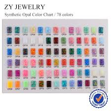 Cabochon Size Chart Synthetic Opal Color Chart With 78 Pcs 5x7mm Rectangle Shape