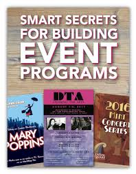Create A Programme For An Event Program Printing Sports Dance Events Printingcenterusa