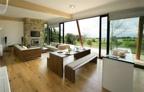 Kitchen And Living Room Flooring Tiny Kitchen Living Room Combo Brown Pastel Laminate Flooring