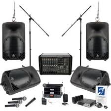 church sound system. quick look church sound system with mackie ppm1088 ultra-light professional powered mixer and 4 c200 loudspeakers