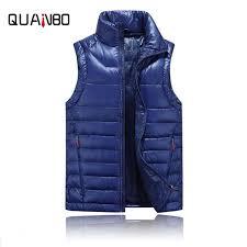 Solid color <b>men's</b> winter <b>down vest Men's</b> slim white duck <b>down</b> ...