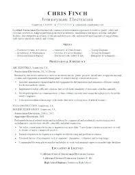 Journeyman Electrician Resume Fresh Electrical Resume Sample
