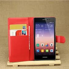 Luxury Genuine <b>PU Leather Flip Case</b> Cover for Huawei P7 Case ...
