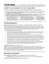 Bunch Ideas of Sample Substitute Teacher Resume In Letter .