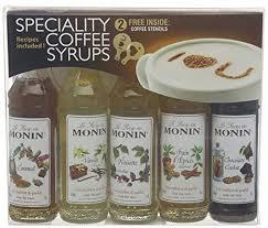 monin syrup coffee gift set 5x5cl