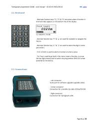 user manual of tachograph programmer cd400 tachograph programmer cd400 user manual