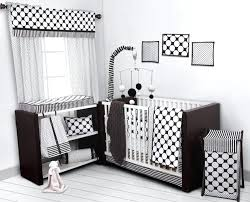 decoration black and white polka dot crib bedding dots pin stripes set including per pad