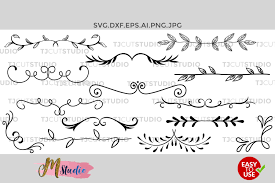 You can copy, modify, distribute and perform the work, even for commercial purposes, all without asking permission. Dividers Svg Hand Drawn Leaves Leaf Dividers Svg 64552 Cut Files Design Bundles