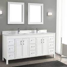 Corniche 75 White Double Sink Vanity By Studio Bathe