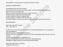 Bank Teller Resume Examples Related Post Surprising Sample