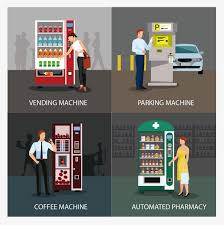 How To Design A Vending Machine Classy Selfservice Vending Machine Cartoon Flat Self Help PNG And