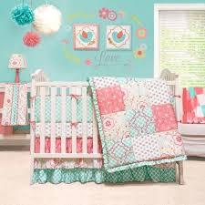 purple patchwork baby bedding crib c and blue fl 4 piece girl by peanut
