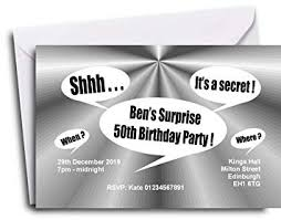 surprise birthday party invite the save the date people 30 surprise party invitations personalised
