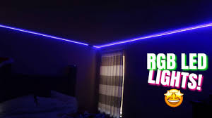 Led Light Strips For Room Unboxing Installing Rgb Led Light Strips Whole Room