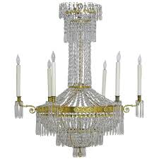 antique swedish gustavian empire crystal chandelier with ten lights ca 1810 for