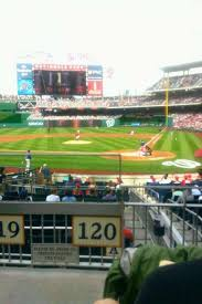 Nats Park Seating Chart Nationals Park Section 120 Home Of Washington Nationals