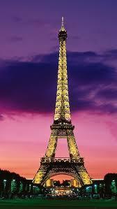 Eiffel Tower At Night Paris France IPhone Se Wallpaper
