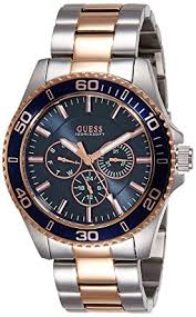 guess men s quartz watch black dial analogue display and guess men s quartz watch black dial analogue display and silver stainless steel w0172g3