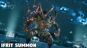 Final Fantasy 7 REMAKE - Ifrit Summon ...