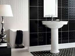 bathroom tiles black and white. Brilliant Black Best 25 Black White Bathrooms Ideas On Pinterest Impressive Design Black  White Bathroom Tiles Ideas And