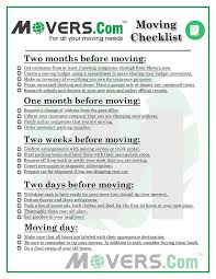 The Ultimate Moving Checklist Movers Com