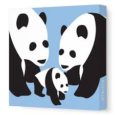 avalisa panda canvas on panda canvas wall art with avalisa panda canvas modernnursery