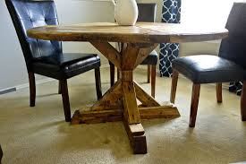 diy farmhouse style round top dining table