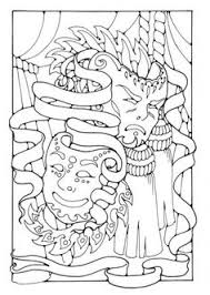 Small Picture Printable Mardis Gras coloring page Free PDF download at http