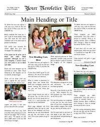 School Newspaper Layout Template