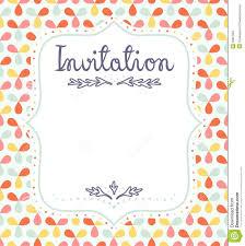 Invitation Templete Invitation Template Stock Vector Illustration Of Greeting 3