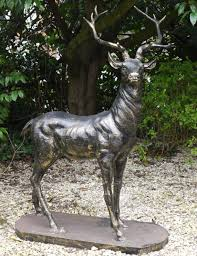 good wrought iron garden ornaments life size stag bronze deer garden statue left